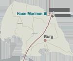 Anfahrt zum Haus Marinus
